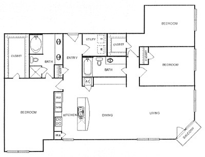 1,668 sq. ft. Votive floor plan