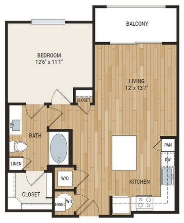 723 sq. ft. Hamer floor plan