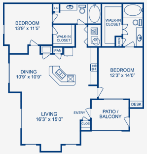1,310 sq. ft. Brazos floor plan