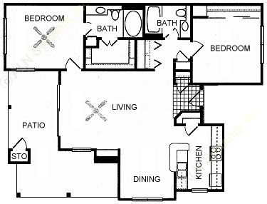1,088 sq. ft. GRAND floor plan