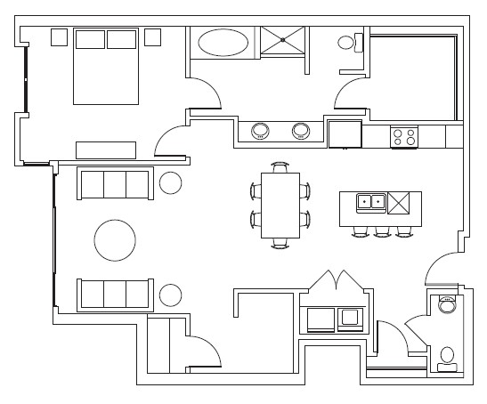 1,163 sq. ft. Fossil Creek floor plan