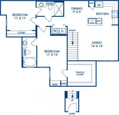 1,098 sq. ft. SEQUOIA floor plan
