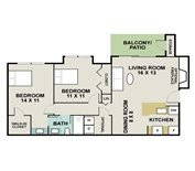 848 sq. ft. Fox Trotter floor plan