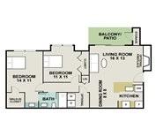 848 sq. ft. Fox Trotter floor plan