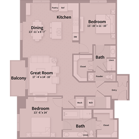 1,553 sq. ft. D3 floor plan