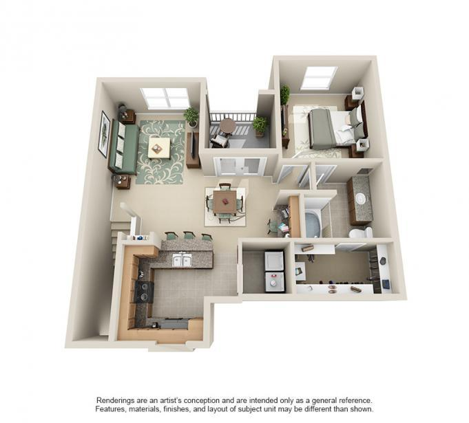 925 sq. ft. Eagle floor plan