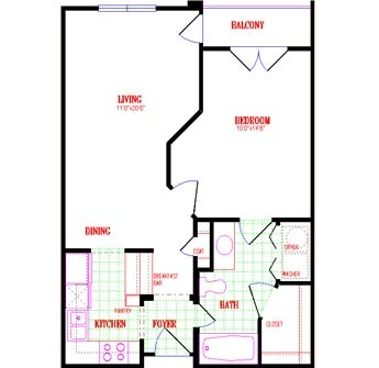 653 sq. ft. floor plan