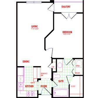 653 sq. ft. floor plan