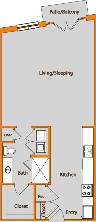 718 sq. ft. LOFT 1 floor plan