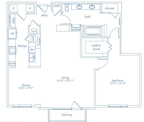 1,282 sq. ft. Stella Two floor plan