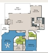 1,539 sq. ft. B4 floor plan