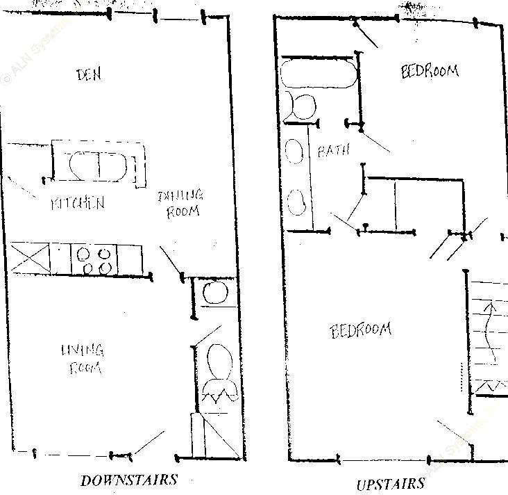 1,088 sq. ft. B4 floor plan