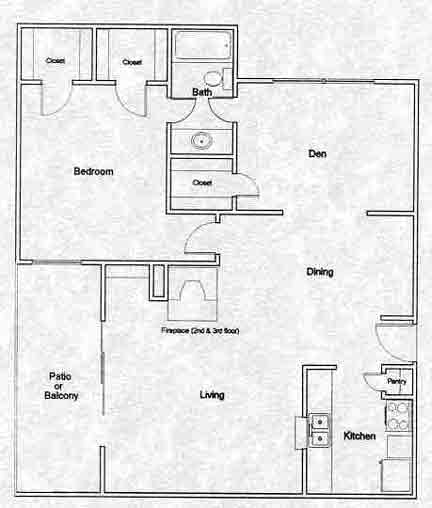 759 sq. ft. A5 floor plan