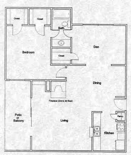 759 sq. ft. A5 floor plan
