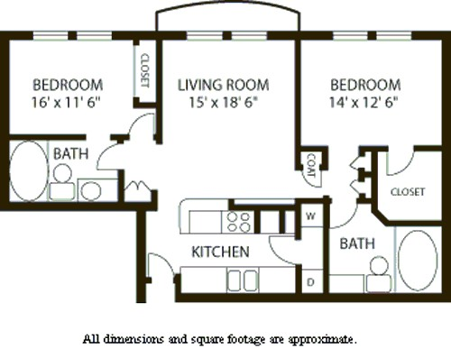 1,131 sq. ft. B1 floor plan