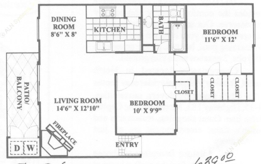 841 sq. ft. Elite floor plan