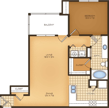 779 sq. ft. A1/Treviso Vistas floor plan