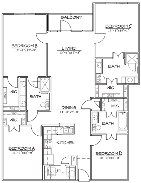 1,680 sq. ft. floor plan