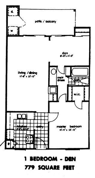 779 sq. ft. floor plan