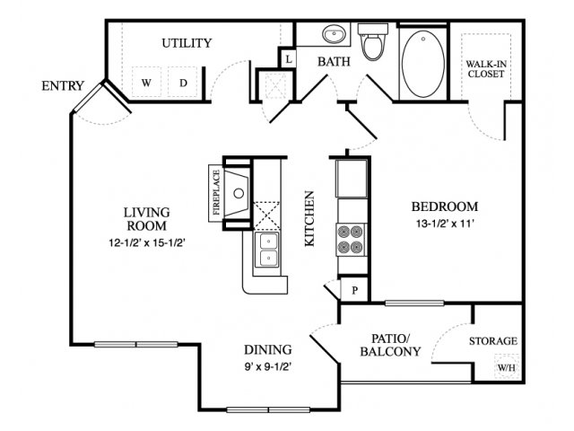 760 sq. ft. Chalet floor plan