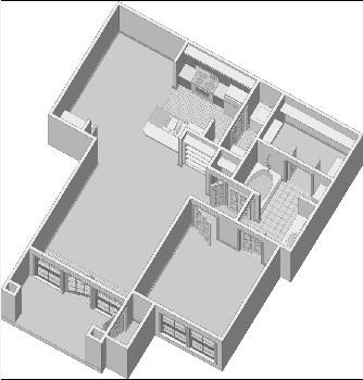 794 sq. ft. A2.3PH2 floor plan