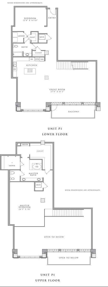 2,735 sq. ft. P1 floor plan