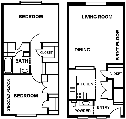 1,224 sq. ft. floor plan