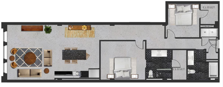 1,683 sq. ft. M floor plan