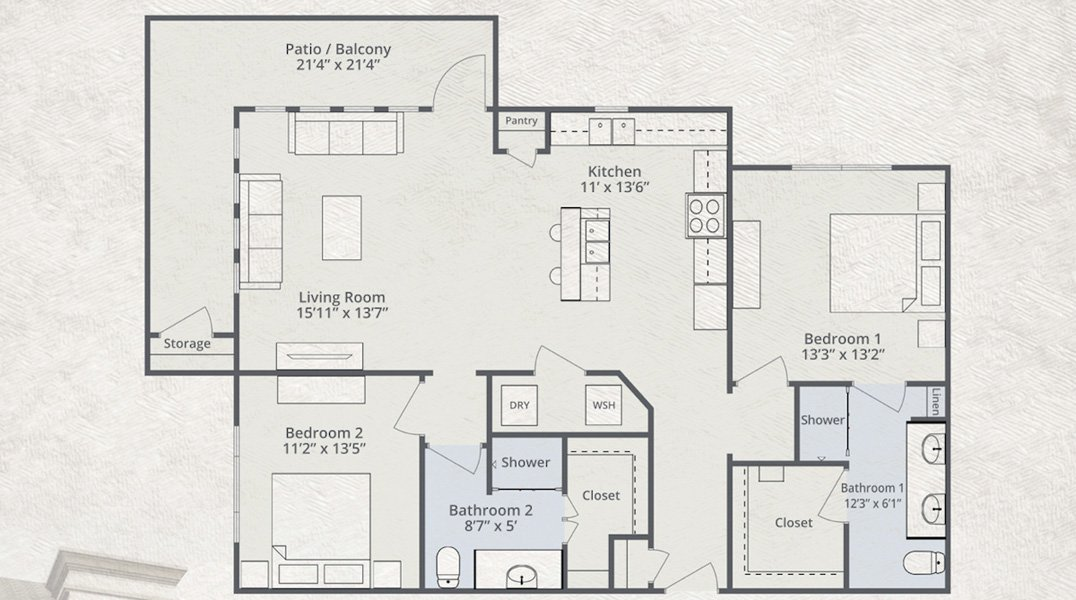 1,401 sq. ft. to 1,437 sq. ft. Jetstar floor plan