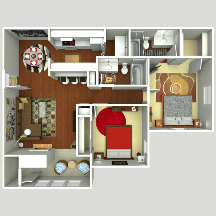 975 sq. ft. B2S floor plan