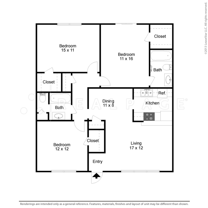 1,281 sq. ft. floor plan