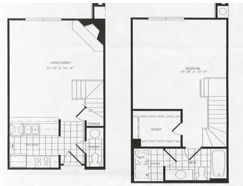 871 sq. ft. T26 floor plan