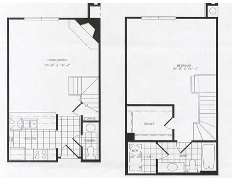 871 sq. ft. T26 floor plan