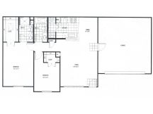1,052 sq. ft. GAR floor plan