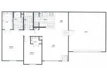 1,052 sq. ft. GAR floor plan