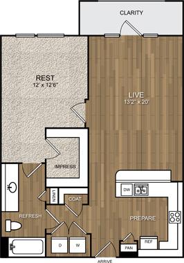 819 sq. ft. A10 floor plan