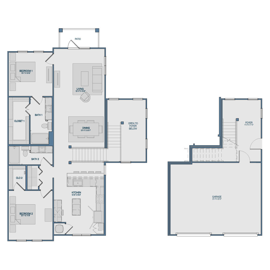 1,591 sq. ft. B9 floor plan