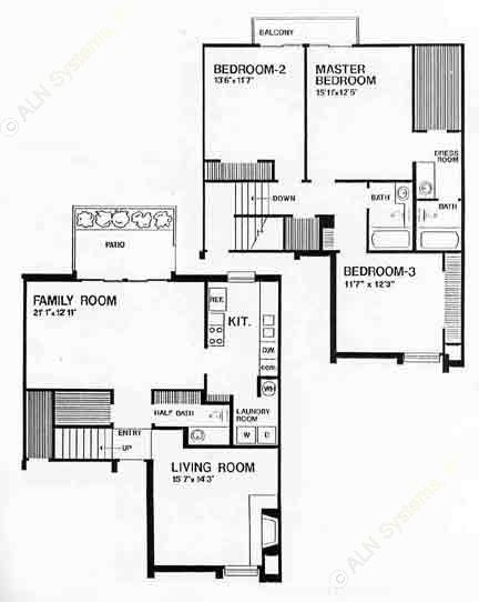 1,759 sq. ft. B floor plan