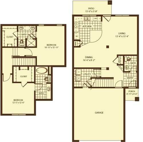 1,484 sq. ft. Cromwell floor plan