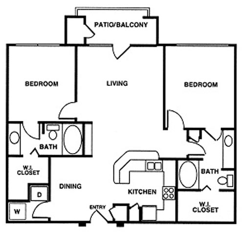 1,142 sq. ft. floor plan