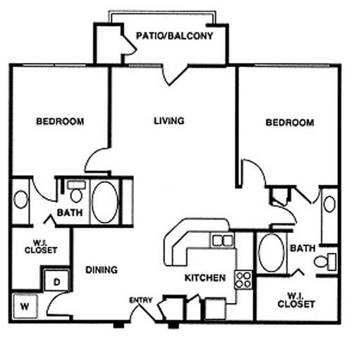 1,142 sq. ft. floor plan