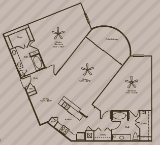 1,555 sq. ft. ODYSSEY floor plan