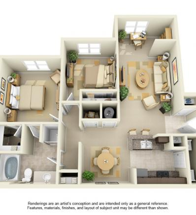 1,082 sq. ft. GAR floor plan
