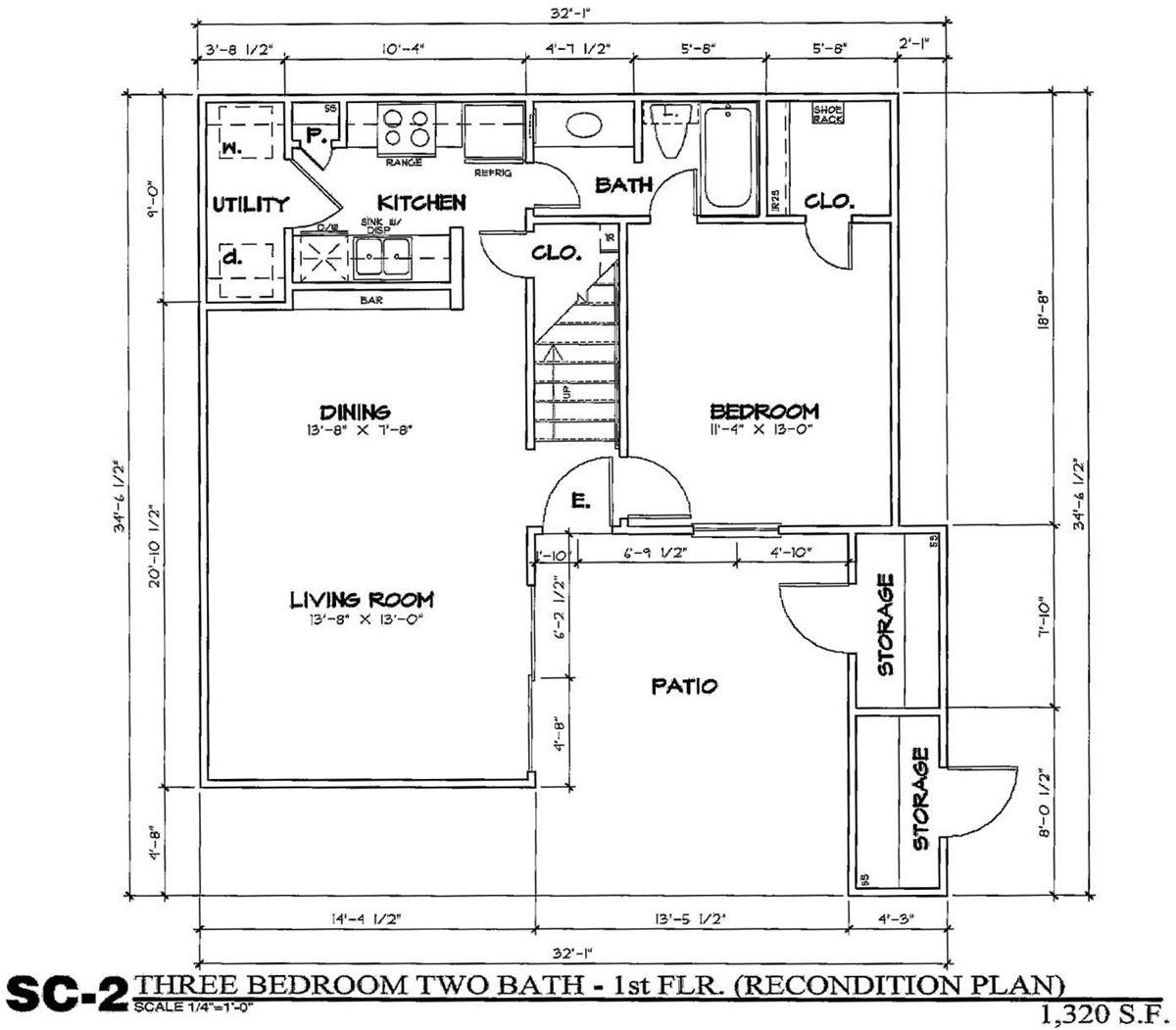 1,320 sq. ft. SC2/50 floor plan