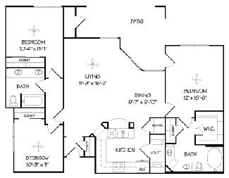 1,315 sq. ft. C1/Terra Vista floor plan