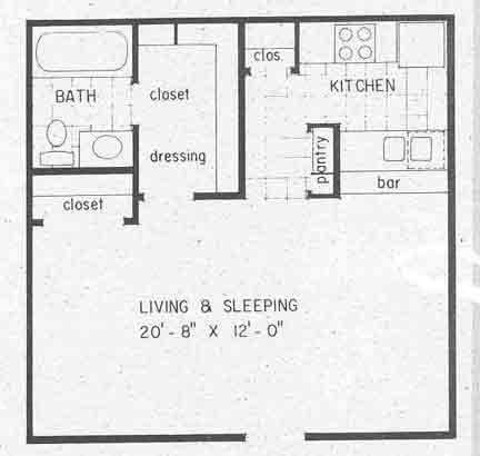 448 sq. ft. EFF1 floor plan