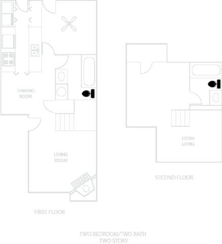 796 sq. ft. A2-B floor plan