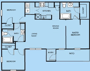 1,181 sq. ft. Addison floor plan