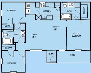 1,181 sq. ft. Addison floor plan