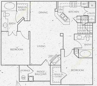 1,269 sq. ft. C1 floor plan
